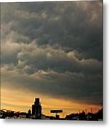More Strong Cells Moving Over South Central Nebraska Metal Print