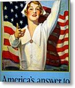 Red Cross Poster, 1917 Metal Print