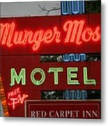 Route 66 - Munger Moss Motel Metal Print