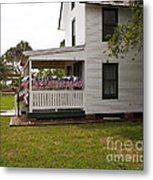 Ryckman House In Melbourne Beach Florida Metal Print by Allan  Hughes