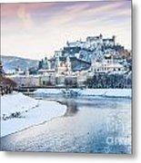 Salzburg In Winter Metal Print