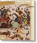 Shahnameh. The Book Of Kings. 16th C Metal Print