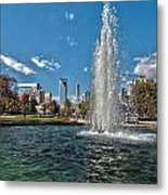 Skyline Of Uptown Charlotte North Carolina Metal Print