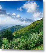 Sunrise Over Blue Ridge Mountains Scenic Overlook  Metal Print