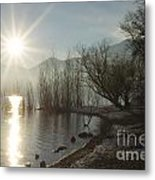 Sunshine Over An Alpine Lake Metal Print
