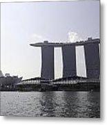 The Artscience Musuem And The Marina Bay Sands Resort In Singapore Metal Print
