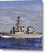 The Guided-missile Destroyer Uss Metal Print