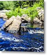 The Stream In Mountain Metal Print
