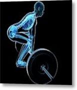 Weight Training Posture Metal Print