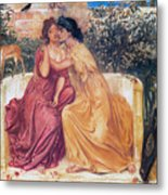 Sappho And Erinna In A Garden Metal Print