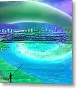 920 - Blue City On The Sea Metal Print