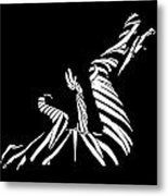 9435 Bw Experimental Nude Abstract Metal Print