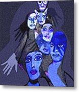957 - Boom Doom Hallucination   Metal Print by Irmgard Schoendorf Welch