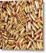 9mm Brass Ammo Metal Print