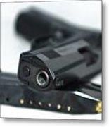 9mm Gun And Ammo Metal Print