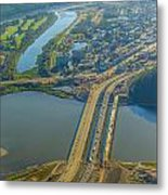 Fort Mcmurray From The Sky Metal Print