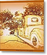 A And W Drive In Metal Print by Bobbee Rickard