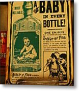 A Baby In Every Bottle Metal Print