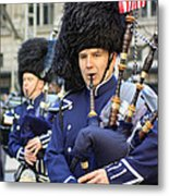 A Bagpiper Marching In The 2009 New York St. Patrick Day Parade Metal Print