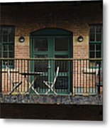 A Balcony On The River Aire Metal Print