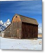 A Barn With A View Metal Print