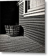 Over A Barrel Metal Print