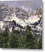 A Beautiful View Of Mount Ogden From Snowbasin 2/1 Pano Metal Print