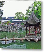 A Beauty In The Pagodo-china Metal Print