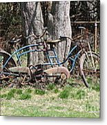A Bicycle Built For Two Metal Print