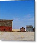 A Big Barn And Three Small Ones Metal Print