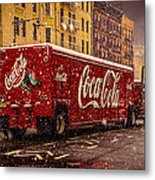 A Big Red Truck In The Barrio Metal Print