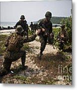 A Bilateral Boat Raid With U.s. Marines Metal Print