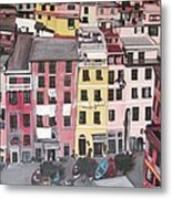 A Bird's Eye View Of Cinque Terre Metal Print