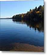 A Blue Autumn Afternoon - Algonquin Lake Tranquility Metal Print