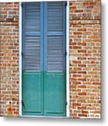 A Blue Door In New Orleans Metal Print