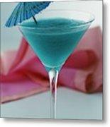 A Blue Hawaiian Cocktail Metal Print