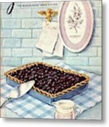 A Blueberry Tart Metal Print