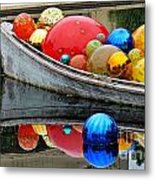 A Boat Full Of Color Metal Print