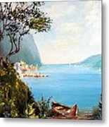 A Boat On The Beach Metal Print by Lee Piper