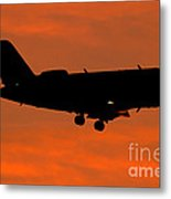 A Bombardier Challenger Cl-600 Private Metal Print