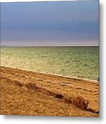 A Book On The Beach Metal Print by Robert Bascelli