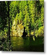 A Boulder Across The Seleway River  Metal Print