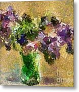 A Bouquet Of Lilac Metal Print