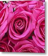 A Bouquet Of Pink Roses Metal Print