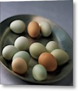 A Bowl Of Eggs Metal Print