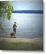 A Boy And His Dog Metal Print