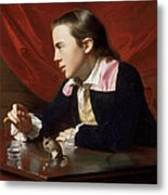 A Boy With A Flying Squirrel. Henry Pelham Metal Print