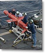 A Bqm-74e Drone Is Prepared For Launch Metal Print