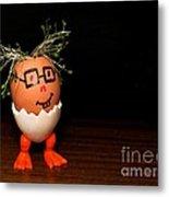 A Brave Eggman. Easter People Series Metal Print