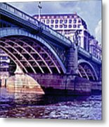A Bridge In London Metal Print